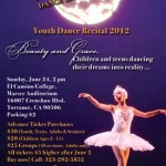 2012 Recital Flyer