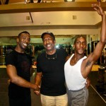 George Faison with LWDT company dancers James and Jeremiah